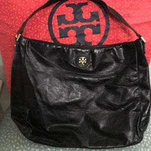 Tory Burch Soft Black Leather Hobo